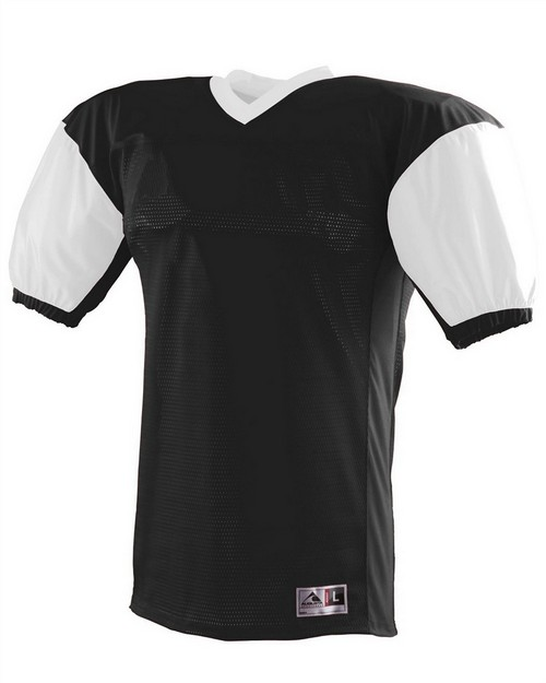 Augusta Sportswear 9540 Adult Polyester Diamond Mesh V-Neck Jersey with Contrast Dazzle Inserts and Collar