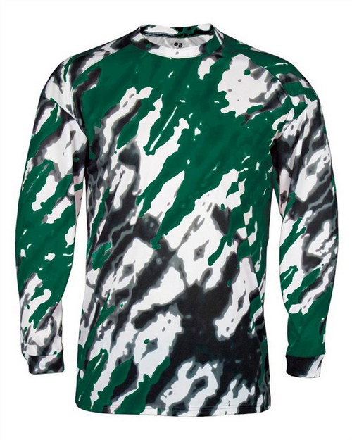 Badger 4185 Adult Tie Dri Sublimated Long Sleeve Tee