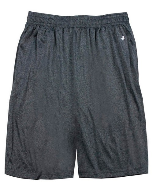 Badger 4319 Adult Heathered 10-Inch Performance Shorts