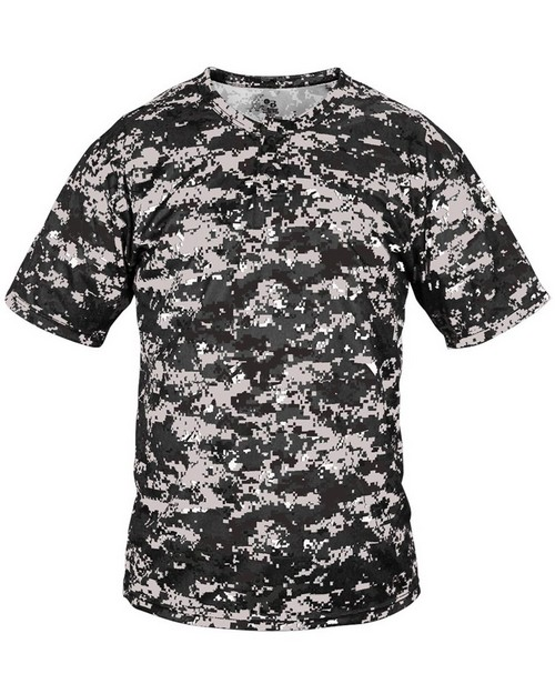 Badger 7980 Adult Two Button Placket Digital Camo Jersey