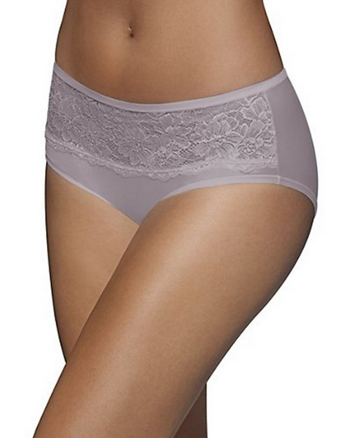 Bali 2783 One Smooth U Comfort Indulgence Satin with Lace Hipster