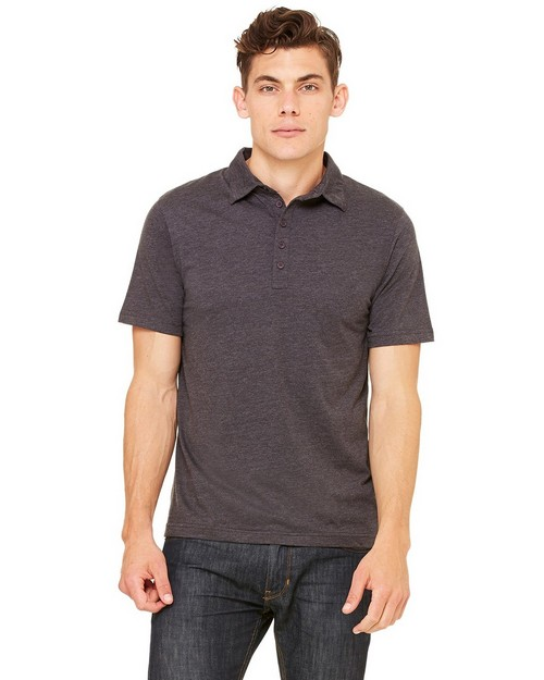 Bella + Canvas 3802 Men's Jersey Short-Sleeve Five-Button Polo