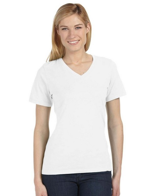 Bella + Canvas 6405U Missy Made in the USA Jersey Short-Sleeve V-Neck T-Shirt