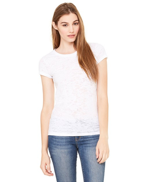 Bella + Canvas 8601 Ladies Bernadette Burnout Crew Neck
