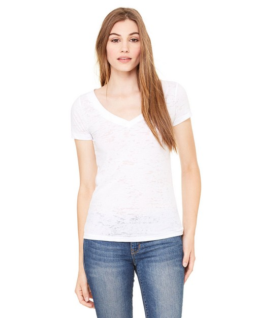Bella + Canvas 8605 Ladies Simone Burnout V-Neck