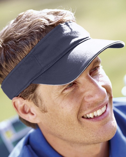 Big Accessories BT3V Washed Twill Sandwich Visor