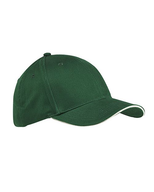 Big Accessories BX004 6-Panel Twill Sandwich Baseball Cap