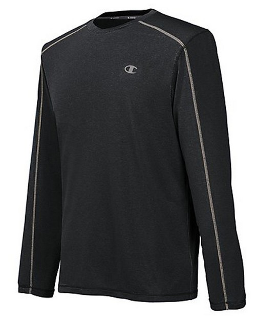Champion T6604 Vapor PowerTrain Heather Mens Long Sleeve Tee