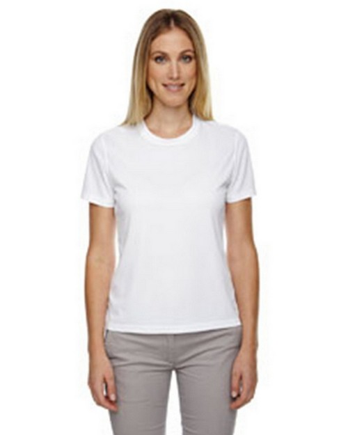 Core365 78182 Pace Ladies Performance Pique Crew Neck T-Shirt
