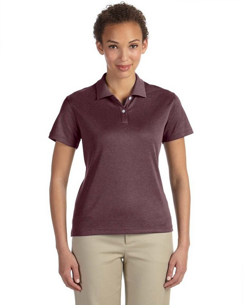 Devon & Jones DG210W Ladies Pima Tech Heather Polo