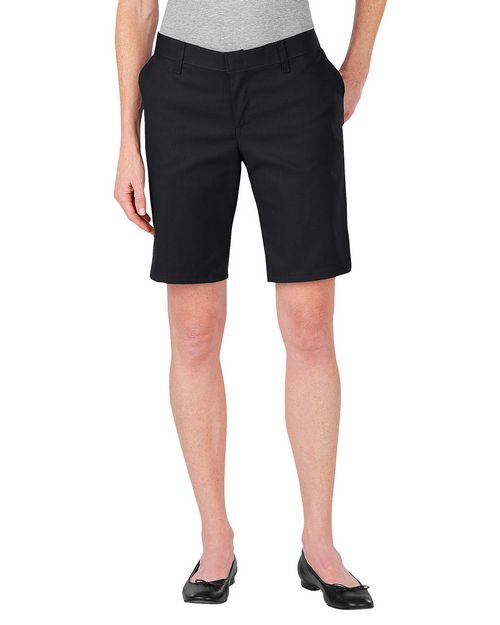 Dickies FR221 Womens 9 Inch Flat Front Short