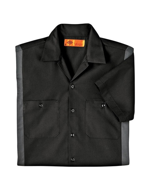 Dickies LS524 Industrial Short-Sleeve Color Block Shirt