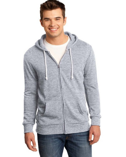 District DT190 Young Mens Core Fleece Full-Zip Hoodie