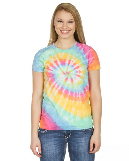Dyenomite 150MS Junior Multi Spiral Tie Dye T-Shirt