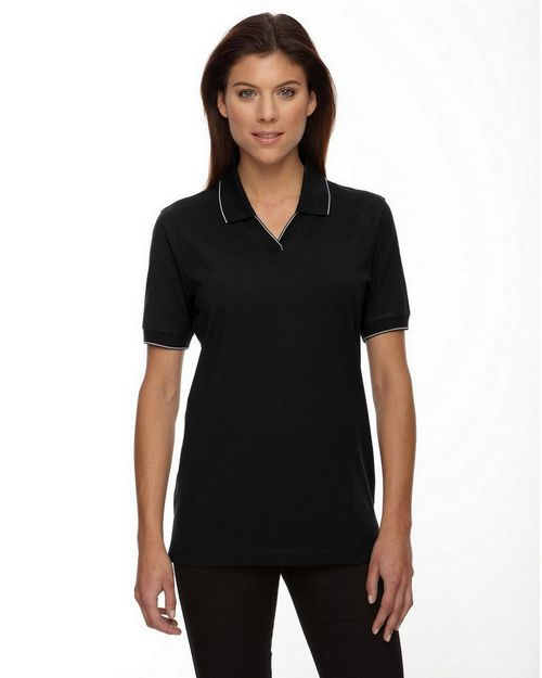 Extreme 75009 Ladies Johnny Collar Jersey Polo With Pencil Stripe
