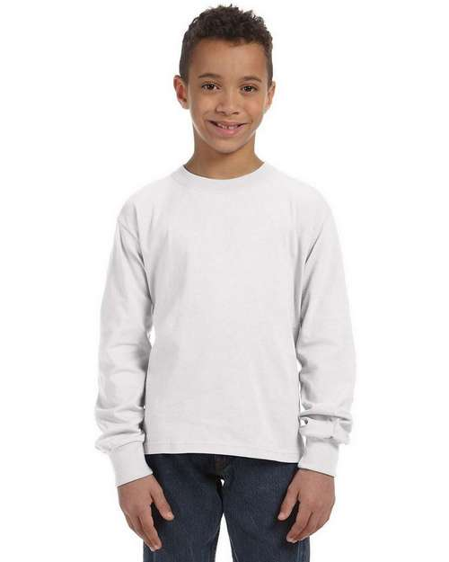 Fruit of the Loom 4930B Youth 100% Heavy Cotton HD Long-Sleeve T-Shirt