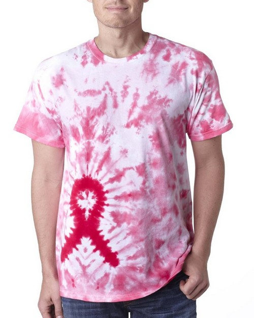 Gildan Tie-Dyes 65 GD Awareness Ribbon Tie-Dye