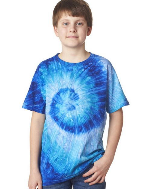 Gildan Tie-Dyes 87B Youth Cotton Ripple Tee