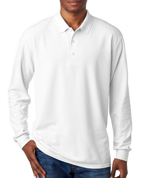 Gildan 72900 DryBlend Adult Double Piqué Long-Sleeve Polo