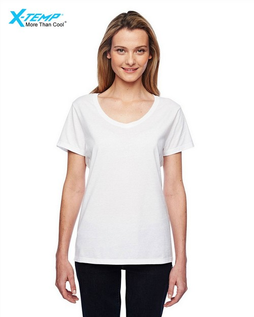 Hanes 42V0 Ladies X-Temp Performance V-Neck T-Shirt