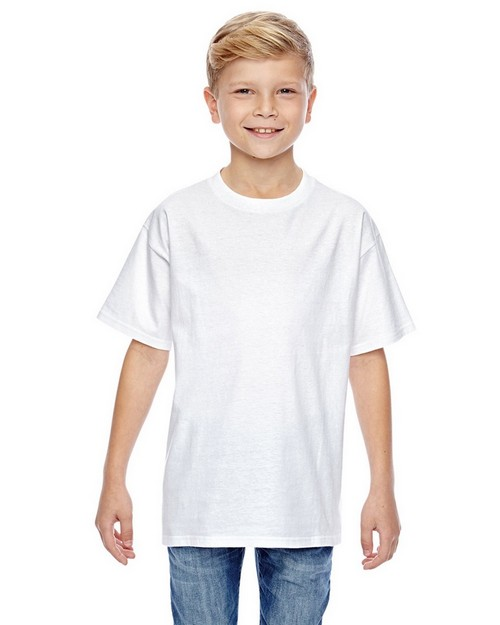 Hanes 498Y Youth 4.5 oz. 100% Ringspun Cotton Nano T-Shirt