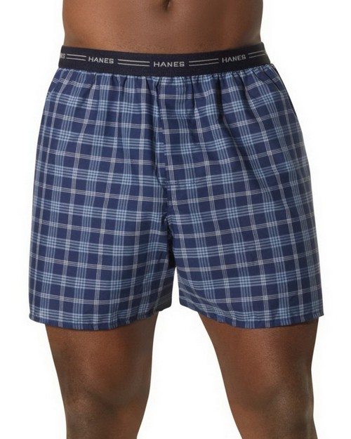 Hanes 841BX5 Mens Yarn Dyed Plaid Boxers (Pack of 5)