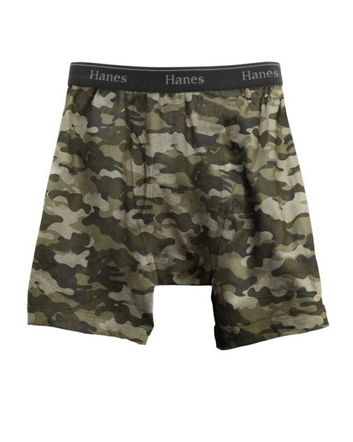 Hanes B740CM Classics Boys Exposed ComfortFlex Waistband Printed Boxer Brief