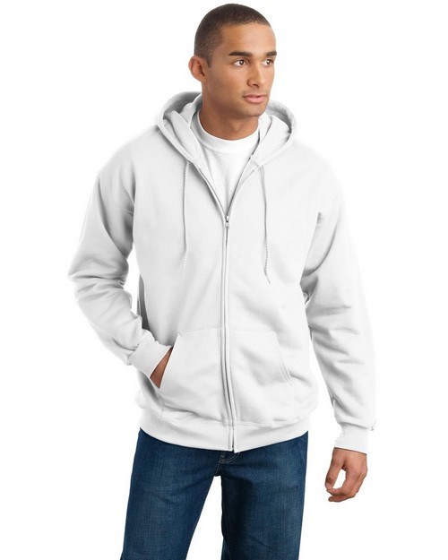 Hanes F283 Ultimate Cotton Full-Zip Hooded Sweatshirt