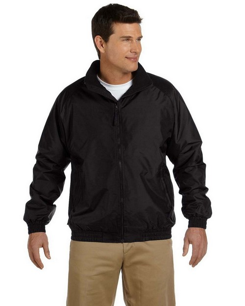 Harriton M740 Fleece Lined Nylon Jacket