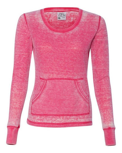 J America JA8255 Ladies Zen Thermal Long Sleeve T Shirt