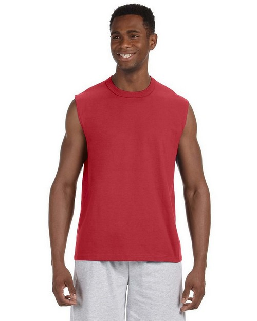 Jerzees 49M 5.6 oz HiDENSI-T Cotton Sleeveless T-Shirt