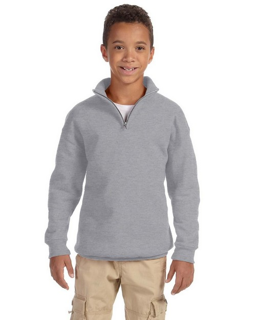 Jerzees 995Y Youth 8 oz. 50/50 NuBlend Quarter-Zip Cadet Collar Sweatshirt