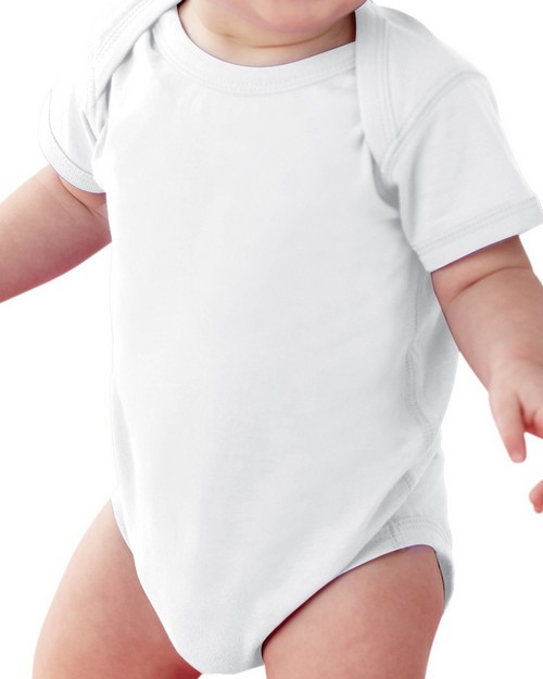 LAT 4424 Infant Fine Jersey Lap Shoulder Creeper