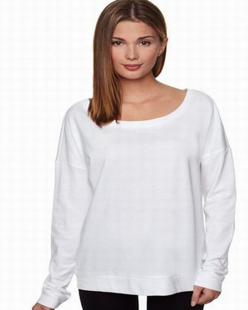 Next Level 6931 Ladies Terry Long Sleeve Scoop Tee