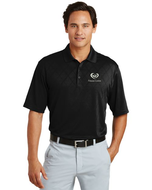 Nike Golf 349899 Dri-FIT Cross-Over Texture Polo