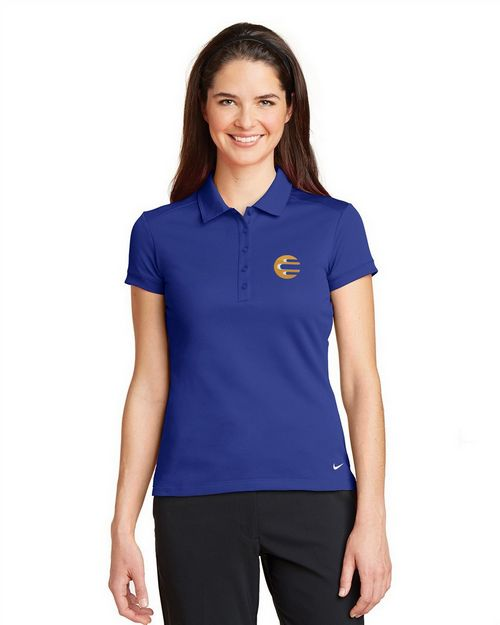 Nike Golf 746100 Ladies Dri FIT Solid Icon Pique Polo