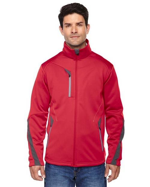 North End Sport Red 88649 Men's Escape Bonded Fleece Jacket