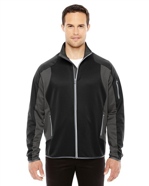 North End 88230 Mens Motion Interactive ColorBlock Performance Fleece Jacket