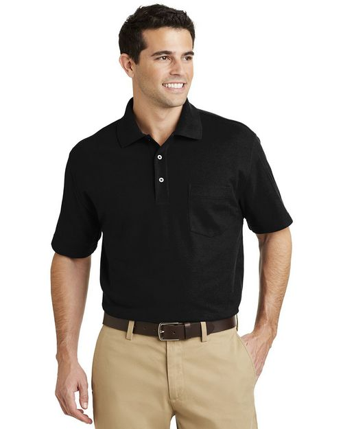 Port Authority K800P EZCotton Pique Pocket Polo