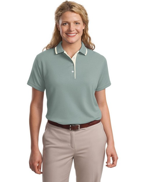 Port Authority L447 Ladies Pinpoint Knit Polo