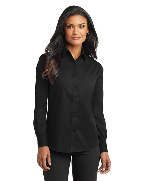 Port Authority L632 Ladies Long Sleeve Value Poplin Shirt