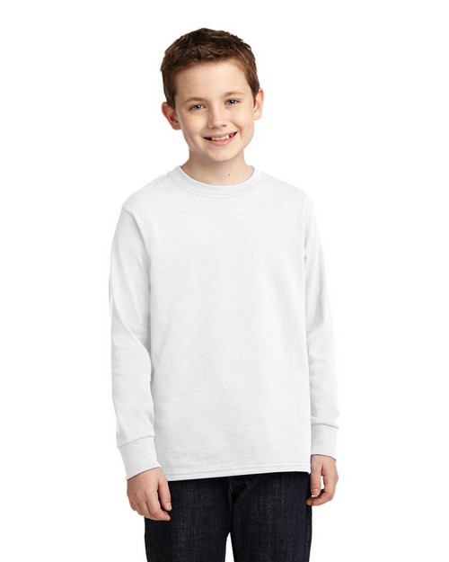 Port & Company PC54YLS by Port Authority Youth Long Sleeve 5.4-oz 100% Cotton T-Shirt