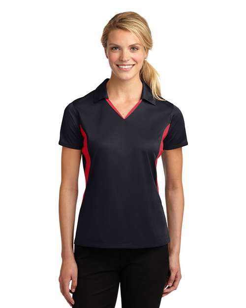 Sport-Tek LST655 Ladies Side Blocked Micropique Sport-Wick Polo by Port Authority