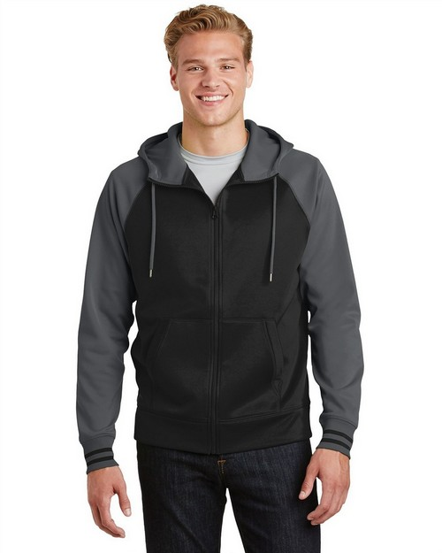 Sport-Tek ST236 Sport-Wick Varsity Fleece Full-Zip Hooded Jacket