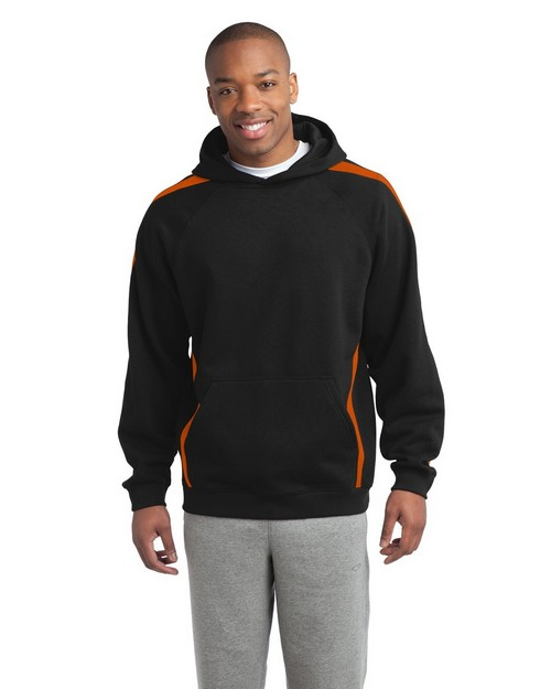 Sport-Tek ST265 Sleeve Stripe Pullover Hooded Sweatshirt by Port Authority