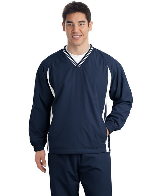 Sport-Tek TJST62 Tall Raglan Wind Shirt by Port Authority