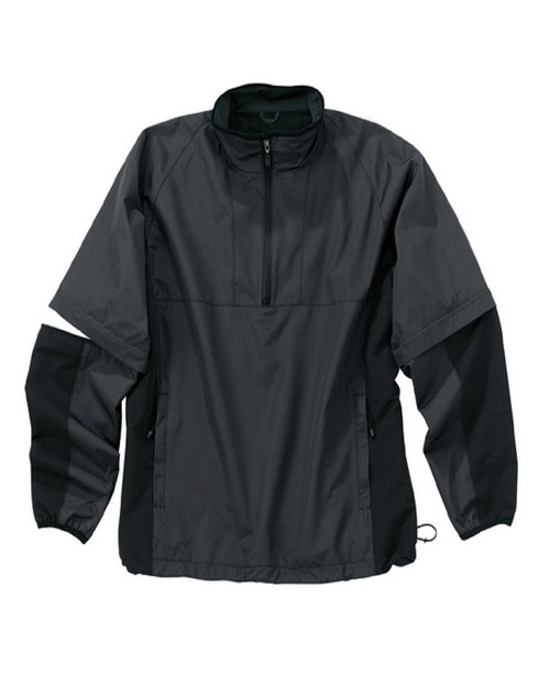 Storm Creek 4110 Mens Quarter Zip Windshirt With Zip Off Sleeves