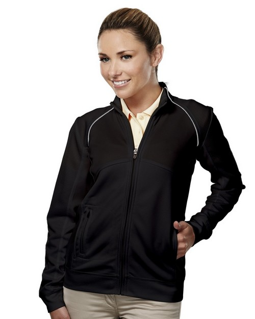 Tri Mountain Gold 625 Exeter Women's Full Zip LS Knit Shirt