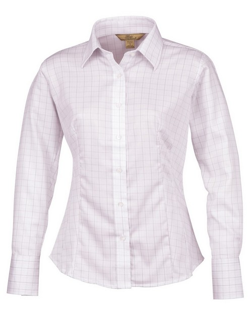 Tri Mountain Gold 971 Cameron Women's Plaid Dress Shirt