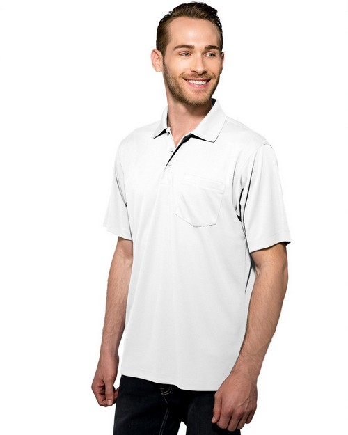 Tri-Mountain Performance K020P Men's 100% Polyester Knit Golf shirt